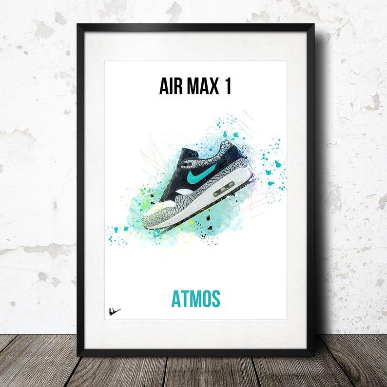 ea1a652e3e22 Nike Air Max 1 Atmos Elephant Artwork Poster Print Limited