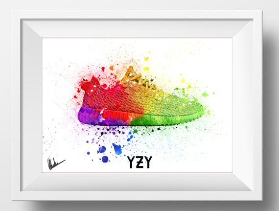 newest a0143 b75b4 Kanye West 2020 Yeezy Boost Poster Sketch Art 350 350 Hip Hop   Etsy