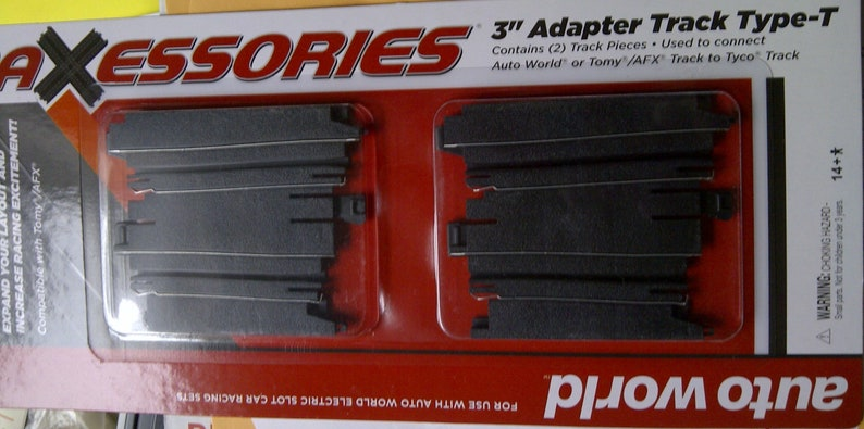 Ho Slot Car Track Adapter Tyco To Afx Tomy AutoWorld Adapter (2)