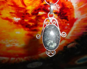 Colgante de jaspe galaxia, plata 925