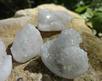 aura quartz Druze pendant