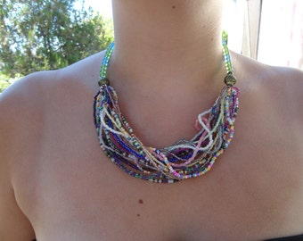 """""""wave of pearls"""" necklace"""
