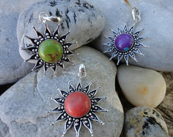 "Pendant ""Sun collection"" the original turquoise"