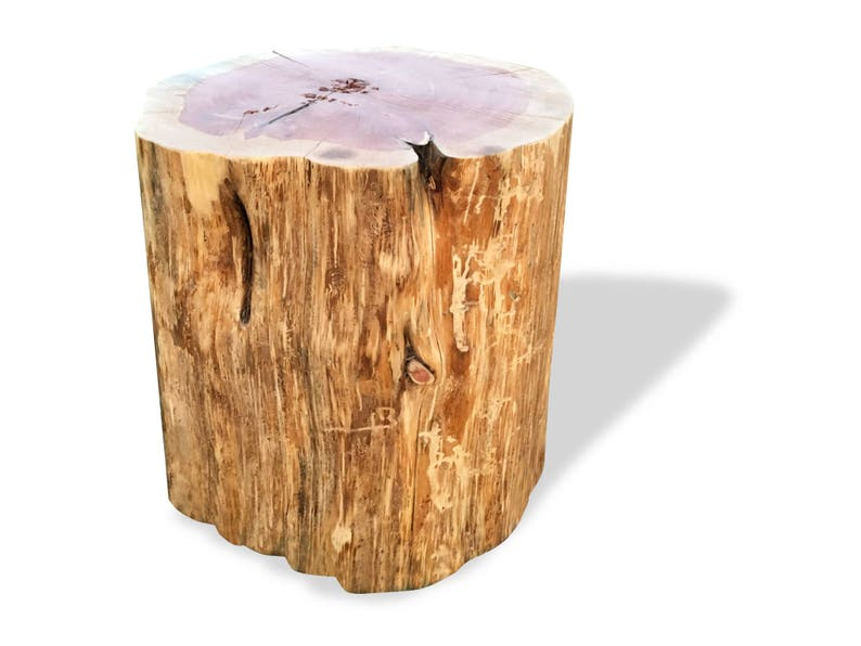 Stump Table Real Cedar Log Furniture Stump Coffee Table Etsy
