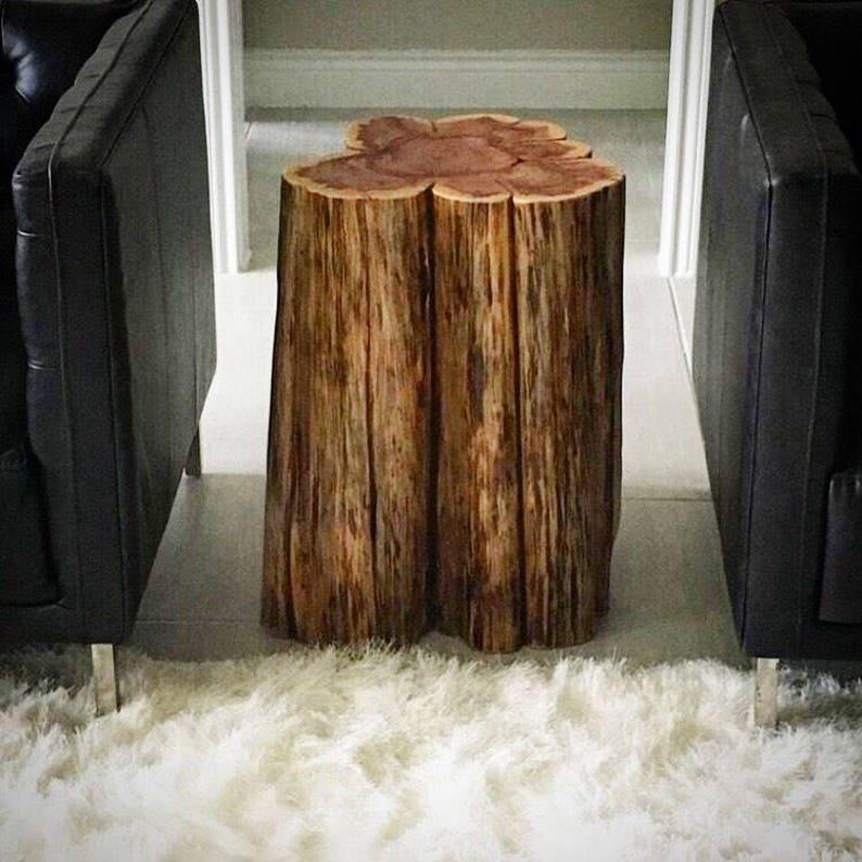 Bon Tree Stump Side Table, Real Cedar, Log Furniture, Stump Coffee Table,  Rustic Tables, Tree Stump Table, Stump Side Tables, Rustic Modern Furn