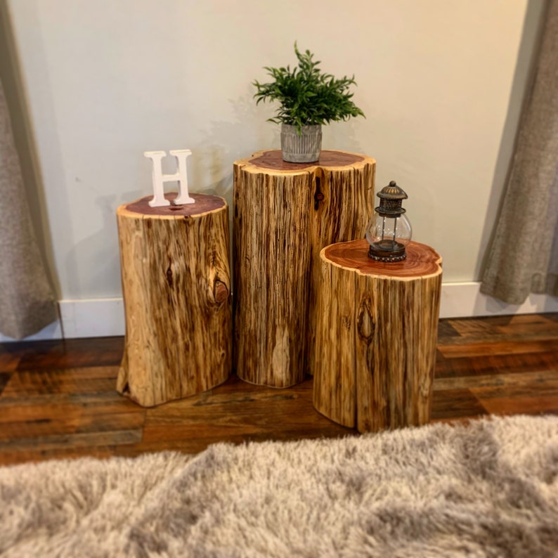 Beau Stump Table, Real Cedar, Log Furniture, Stump Coffee Table, Rustic Tables,  Tree Stump Table, Stump Side Tables, Modern Rustic Furniture