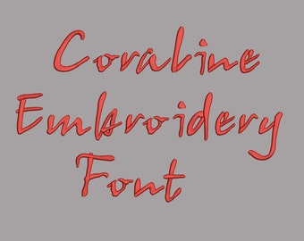Coraline Embroidery Font 5 Size Font Machine Embroidery Font Instant Download 8 Formats Embroidery Pattern Font Squirrel 67442 Free Fonts Legit Free Quality