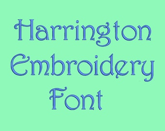 Harrington Embroidery Fonts  7 Sizes Machine Embroidery Font PES fonts Instant Download 8 Formats Embroidery Pattern