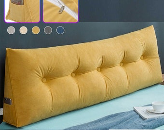 Sofa Long Cushion Backrest Living Room Large Pillow Removable Bedside Soft Cushion Washable Backrest Bed Cushion Waist Pillow