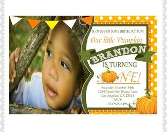Walgreens invite etsy halloween birthday invitations white green orange 4x6 walgreens picture paperfirst birthday pumpkin picture invites see description filmwisefo