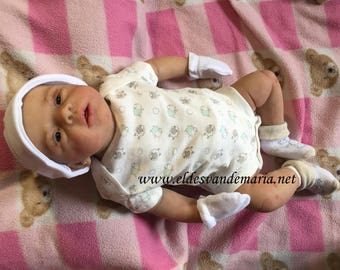 Baby Reborn Silicone open eyes can drink and pee