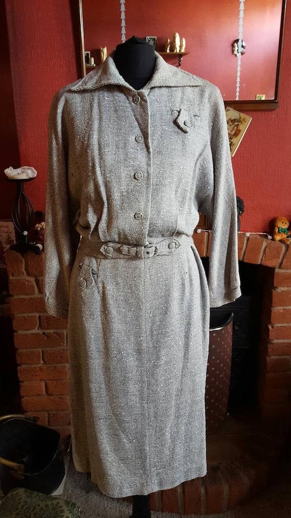 1950s dolman sleeve suit
