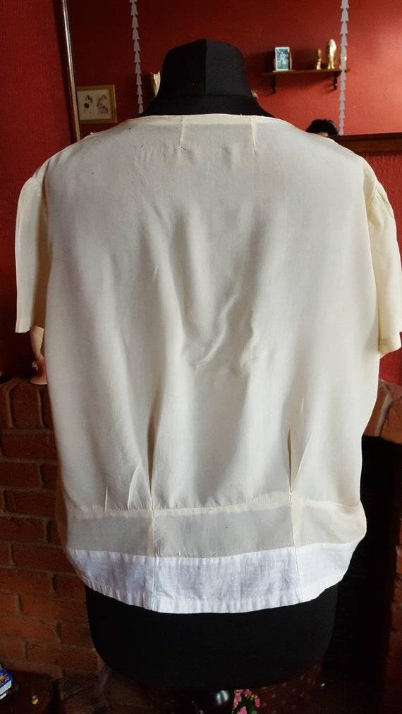 1920s organza blouse - image 4