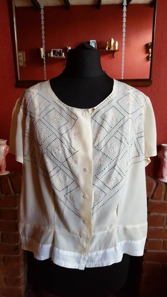 1920s organza blouse