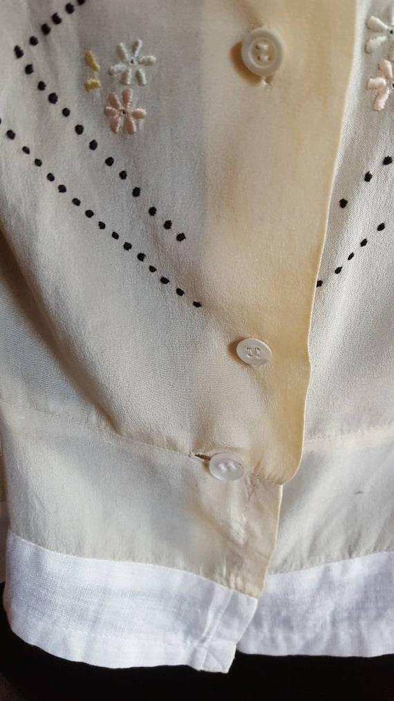 1920s organza blouse - image 5