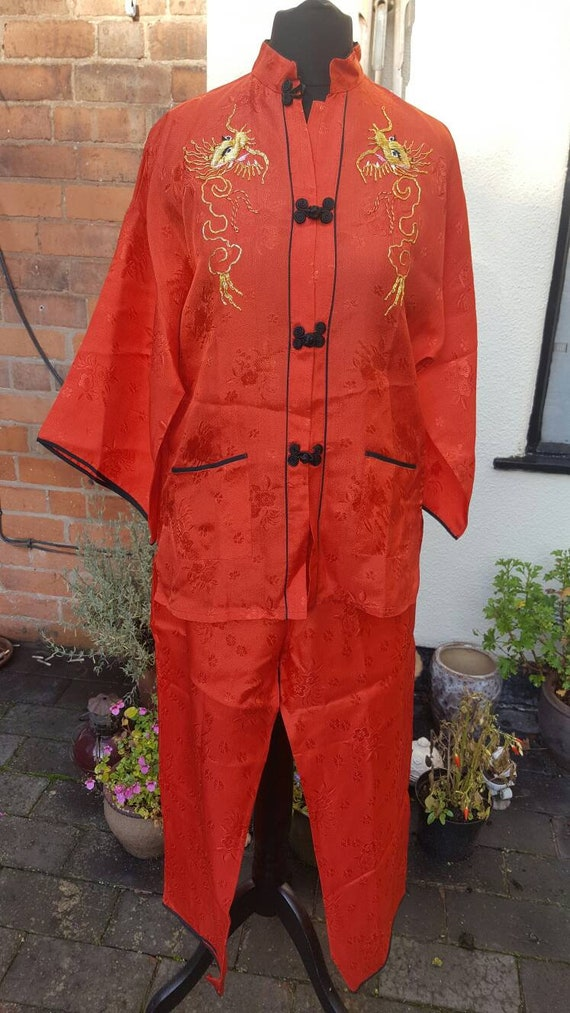 Dead stock 1950s Asian pajama set