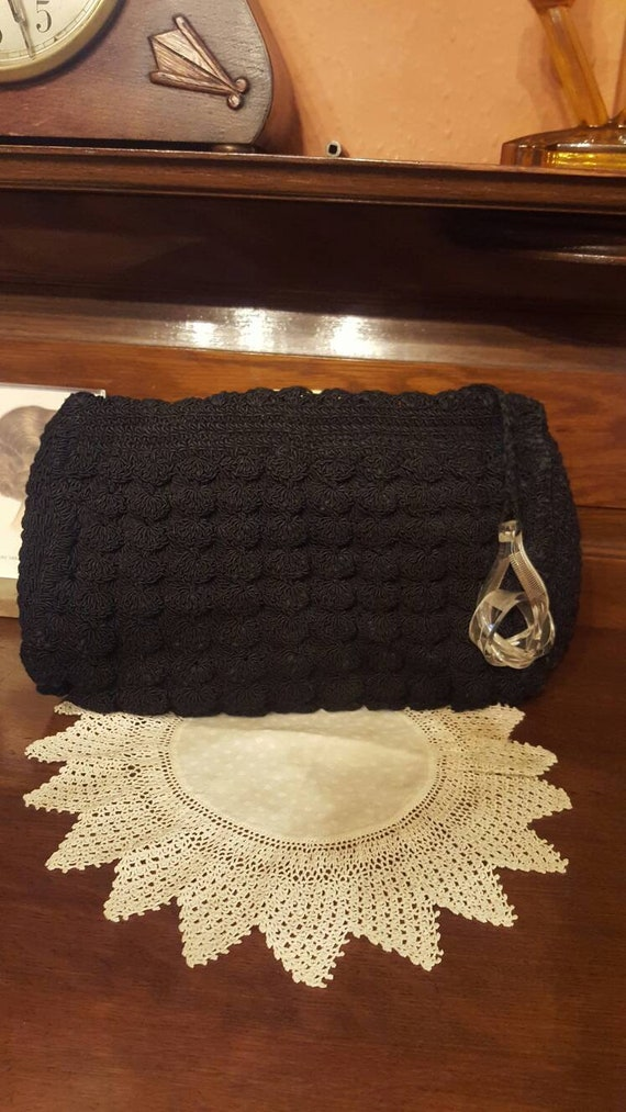1940s corde clutch bag