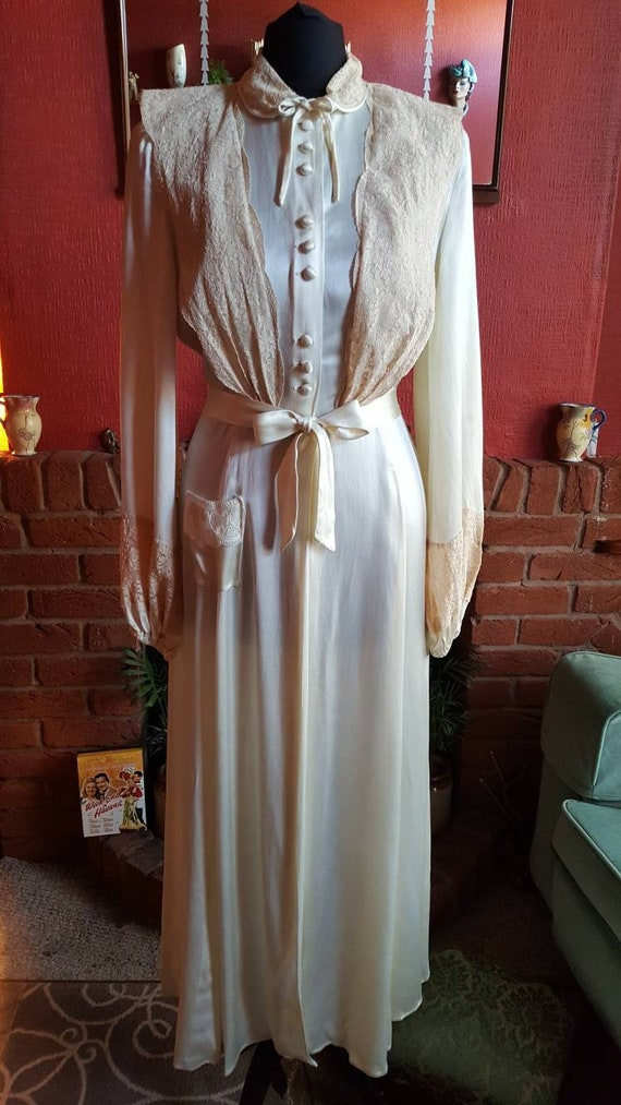 1930s liquid silk robe
