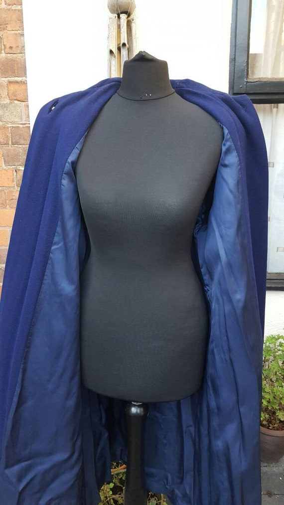 Blue 1940s wool coat - image 4