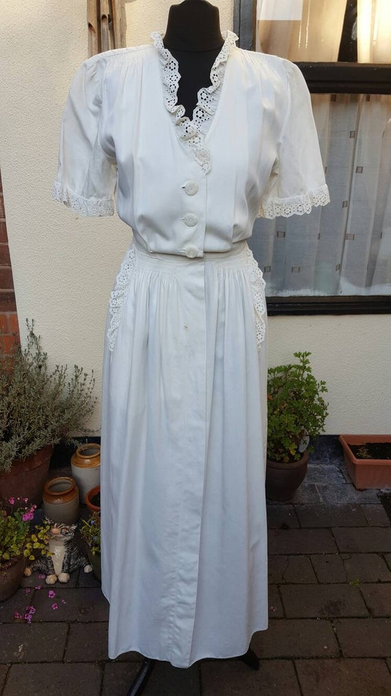1940s house dress/ hostess gown