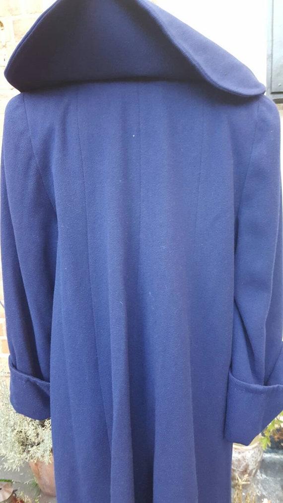 Blue 1940s wool coat - image 5