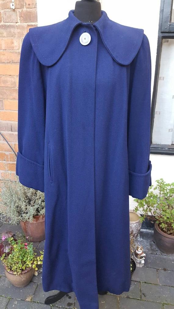Blue 1940s wool coat - image 1