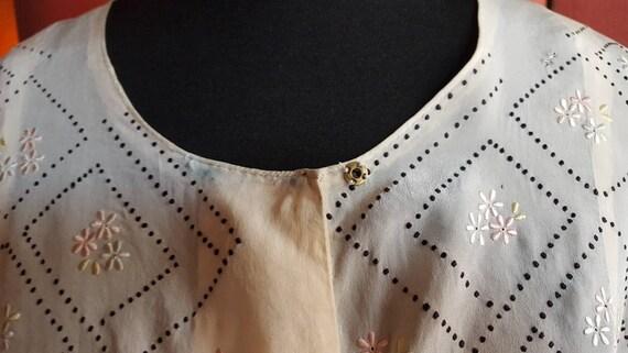 1920s organza blouse - image 6