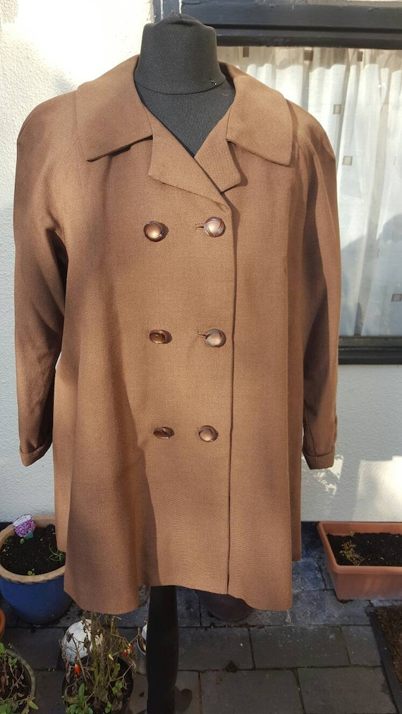 1950s brown swing jacket