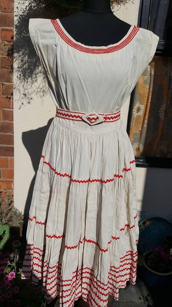 1950s Mexican patio dress