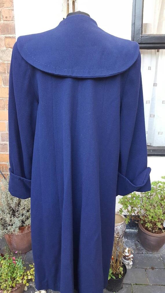 Blue 1940s wool coat - image 2