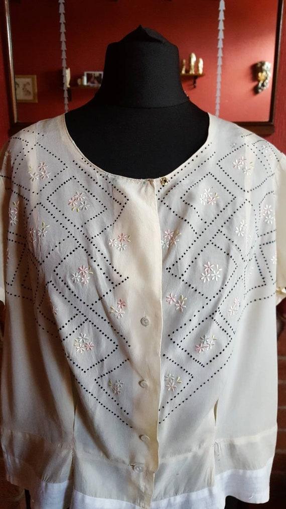 1920s organza blouse - image 2