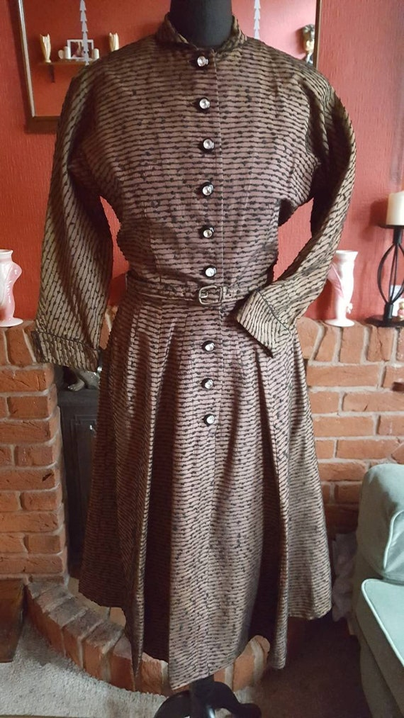 1940s/50s dolman sleeve dress