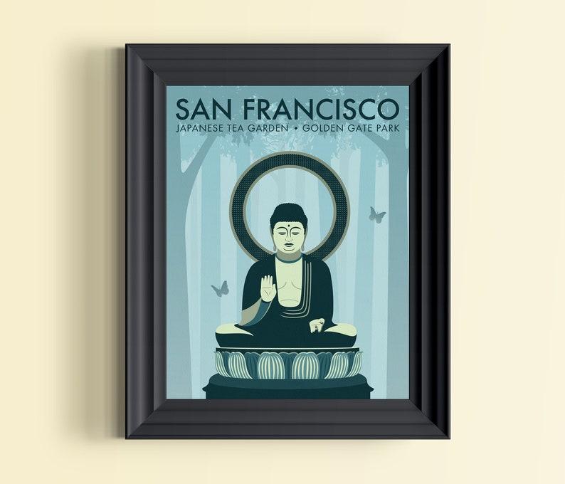 San Francisco art  Buddha wall art  Golden Gate Park  image 0