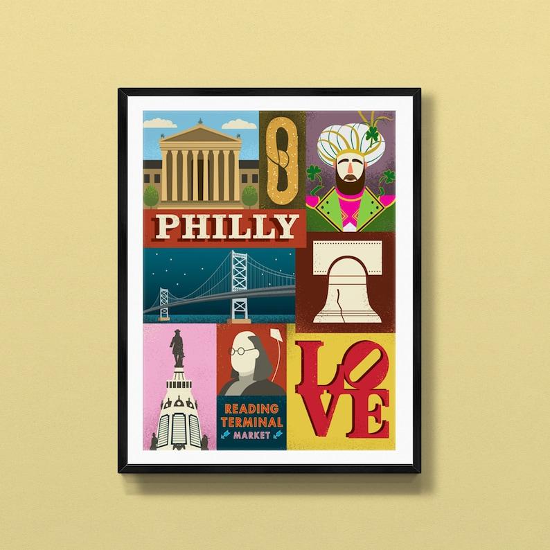 Philadelphia poster  Philadelphia art  Philadelphia print  image 0