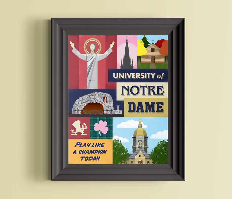 University of Notre Dame  Fighting Irish  Indiana art  image 0