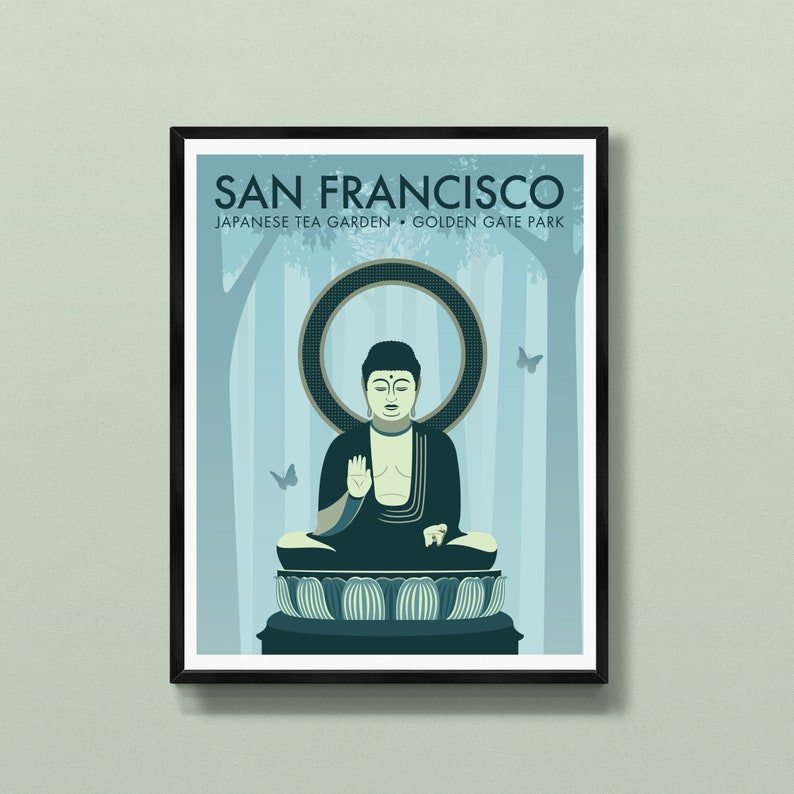 San Francisco print  San Francisco art  San Francisco poster image 0