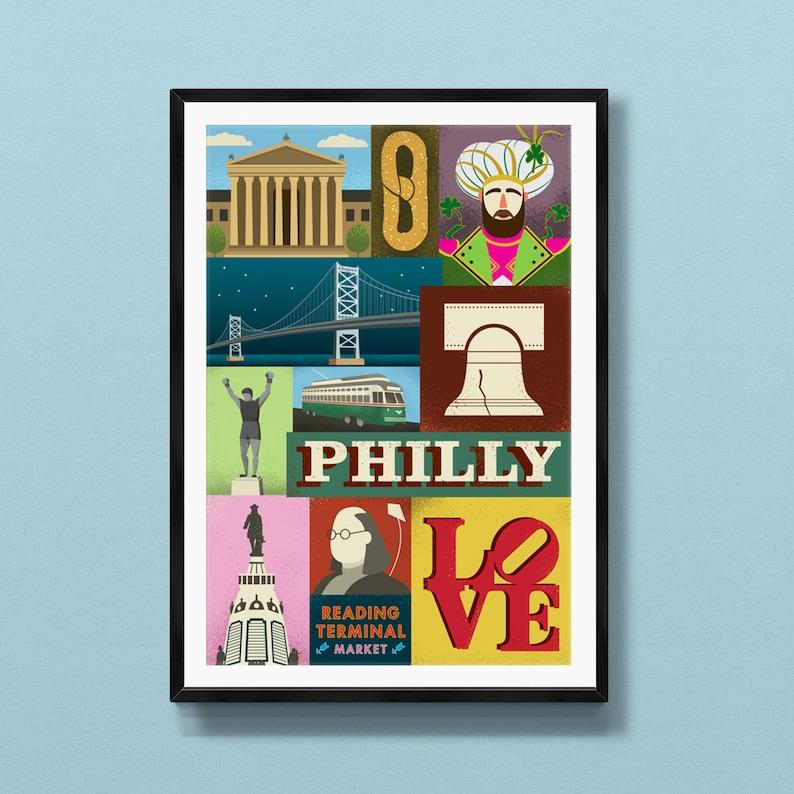 Philadelphia decor  Philadelphia art  Philadelphia print  image 0