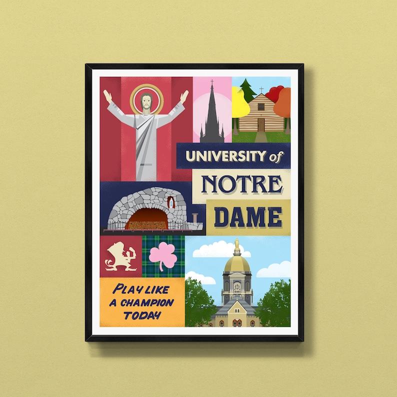 Notre Dame football  Fighting Irish  Indiana art  South image 0