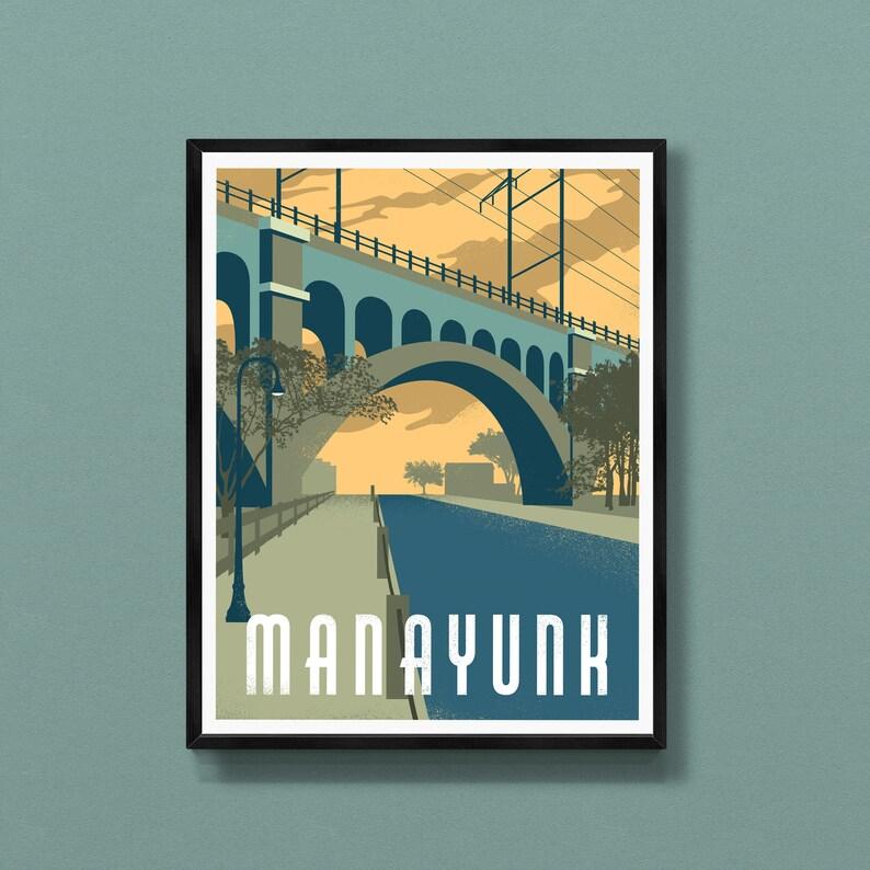 Manayunk art print  Schuylkill River Trail  Manayunk Bridge image 0