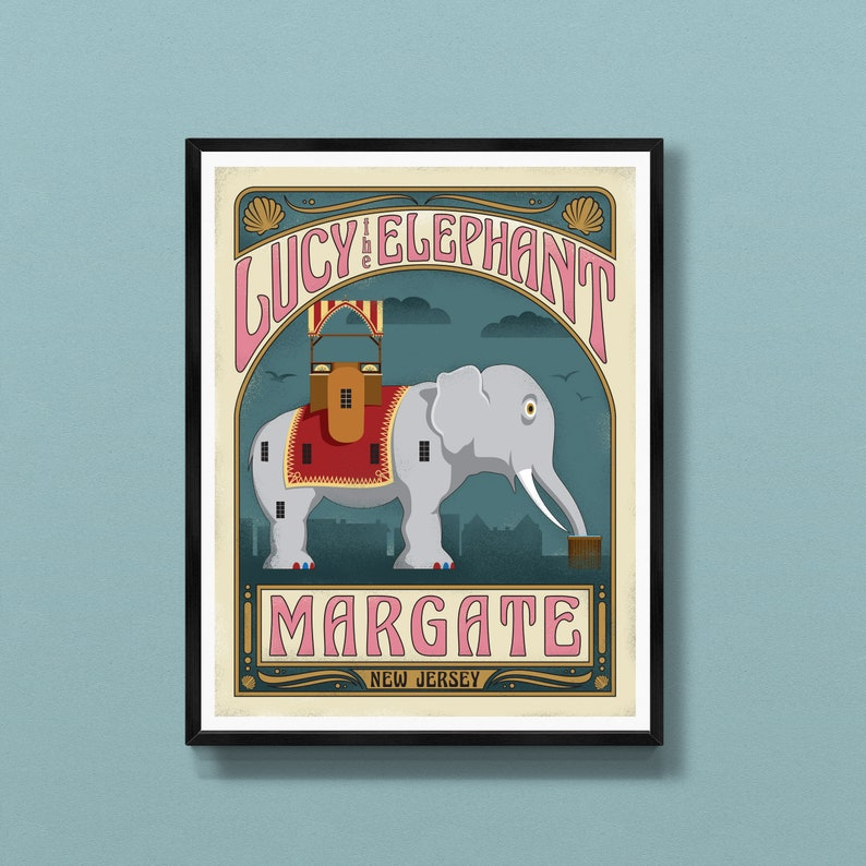 Margate New Jersey art print  Lucy the Elephant  Jersey image 0