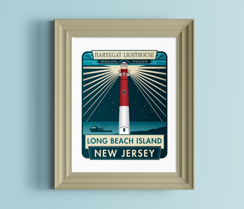 Long Beach Island New Jersey: Long Beach Island New Jersey Wall Art Barnegat Lighthouse