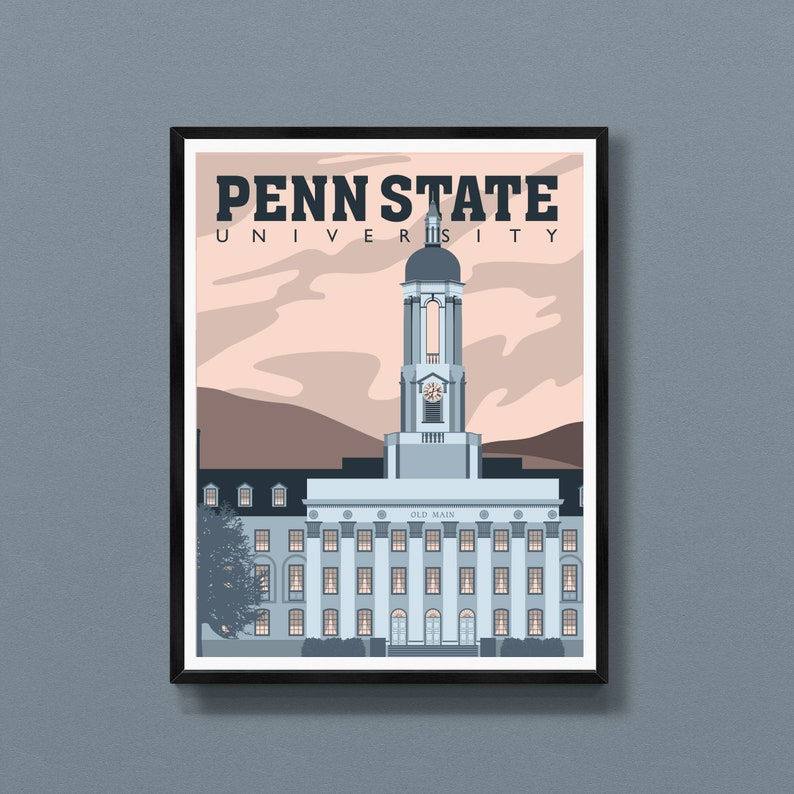 Penn State gifts  Penn State art print  Old Main poster  image 0