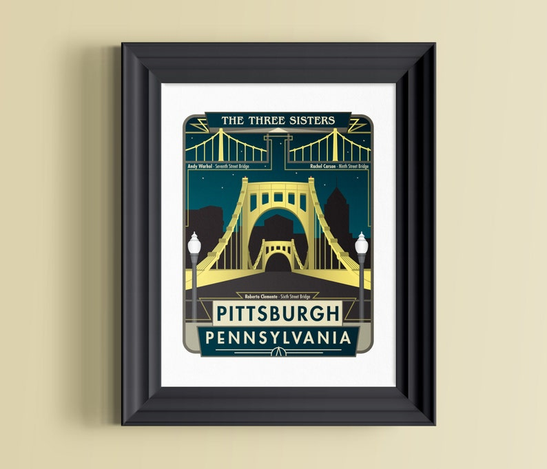 Pittsburgh art  City of bridges  Roberto Clemente Bridge  image 0