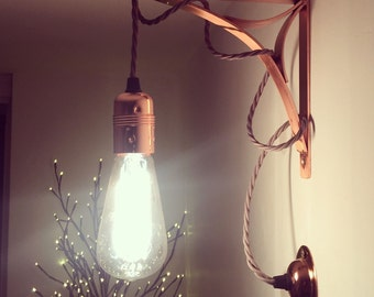 Copper Wall Light - Vintage Retro Industrial Edison Bulb