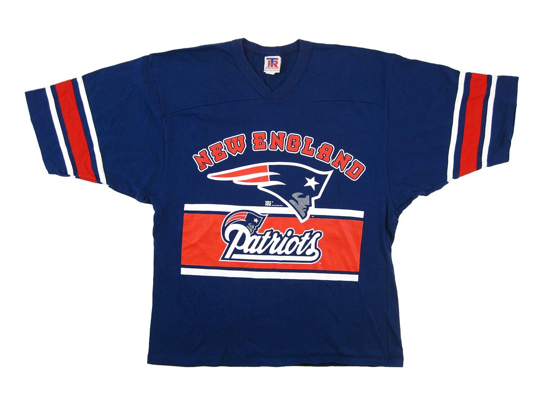 1b95b4fd9e7 1994 90s New England Patriots NFL Football Tee Shirt Jersey | Etsy
