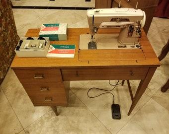 singer sewing machine cabinet etsy rh etsy com old singer sewing machine table restoring old singer sewing machine cabinet