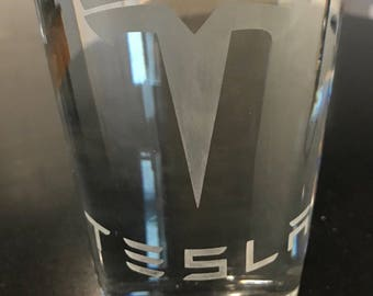 Tesla Beer Glass