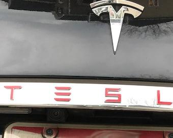 Tesla Model S / X Tailgate Rear Chrome Applique T-E-S-L-A Decal