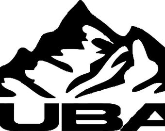 Subaru Logo Mountains Vinyl Decal