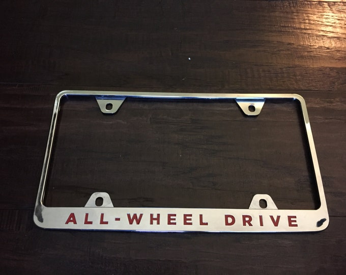 "OEM Tesla License Plate Letter Decals ""ALL-WHEEL Drive"""